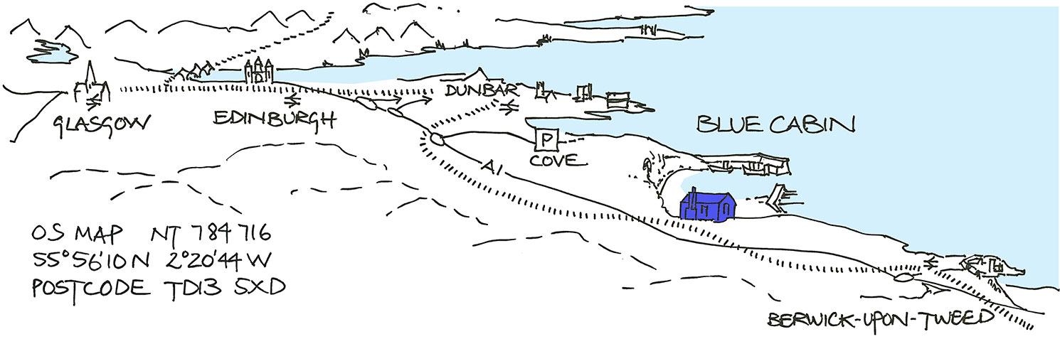 Blue Cabin map